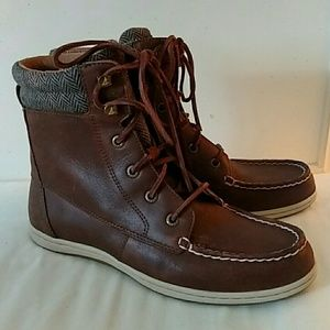 Sperry TopSider Bayfish Brown Boots 7.5 Womens